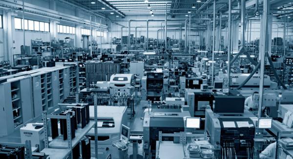 L'area di produzione dello stabilimento