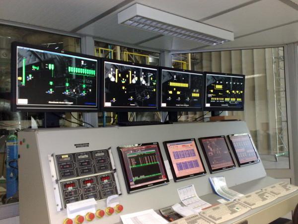 La control room della fabbrica Scolari Engineering a Cinisello Balsamo