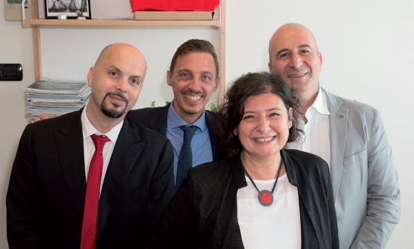 Paola Carnevale, Direttore Commerciale di G DATA Italia, con il suo team