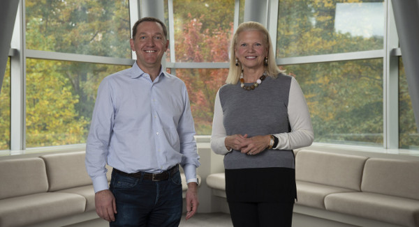 Jim Whitehurst e Ginni Rometty