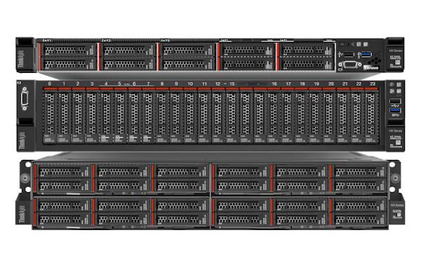 La soluzione Lenovo ThinkAgile HX Series combina il software Nutanix con i server della gamma Lenovo